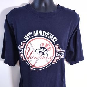 2003 NY Yankees majestic 2xl anniversary t-shirt